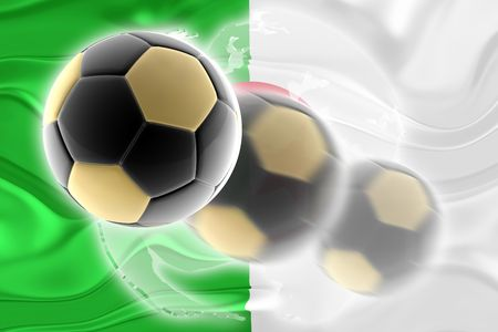 Flag of Algeria, national country symbol illustration wavy sports soccer football org organization website Stock Illustration - 6608788