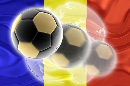 Flag of Andorra, national country symbol illustration wavy sports soccer football org organization website illustration