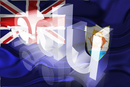 edu: Flag of Anguilla , national country symbol illustration wavy edu education website Stock Photo