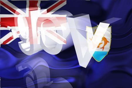 gov: Flag of Anguilla , national country symbol illustration wavy gov government website