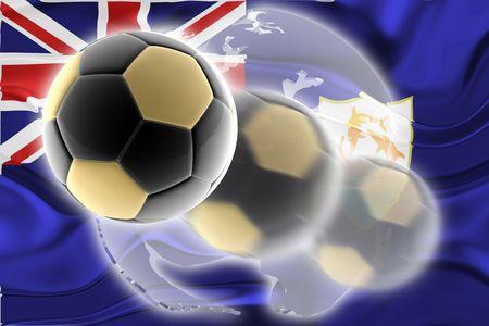 anguilla: Flag of Anguilla , national country symbol illustration wavy sports soccer football org organization website