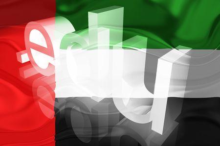 edu: Flag of UAE, national symbol illustration clipart wavy edu education website
