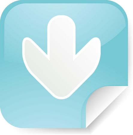 descend: Navigation icon sticker with arrow pointing down