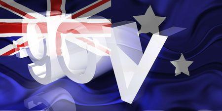 Flag of Australia, national country symbol illustration wavy gov government website Stock Illustration - 6618389