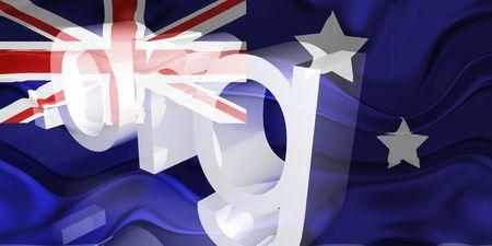 Flag of Australia, national country symbol illustration wavy org organization website Stock Illustration - 6618386
