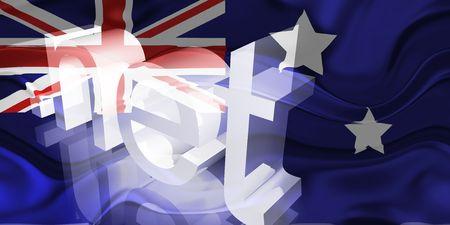 Flag of Australia, national country symbol illustration wavy net domain website Stock Illustration - 6618442