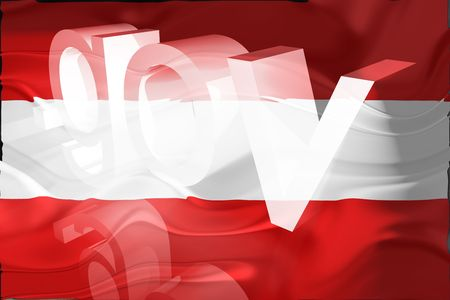 gov: Flag of Austria, national country symbol illustration wavy gov government website