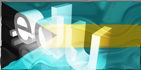 edu: Flag of Bahamas, national country symbol illustration wavy edu education website