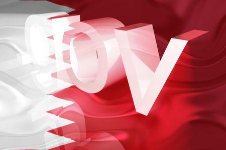 gov: Flag of Bahrain, national country symbol illustration wavy gov government website