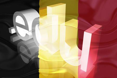 edu: Flag of Belgium, national symbol illustration clipart wavy edu education website
