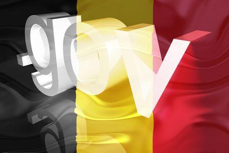 gov: Flag of Belgium, national symbol illustration clipart wavy gov government website