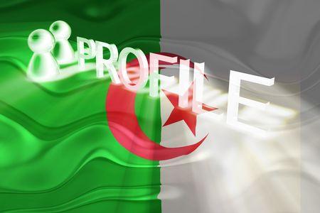 Flag of Algeria, national country symbol illustration wavy internet information profile Stock Illustration - 6621868