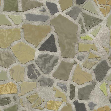 Broken stone mosaic pattern, background texture wallpaper illustration