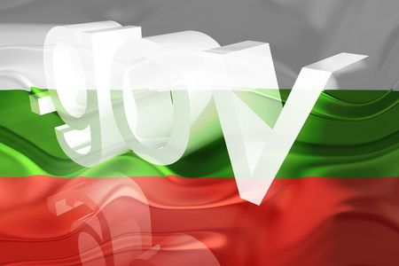 gov: Flag of Bulgaria, national symbol illustration clipart wavy gov government website