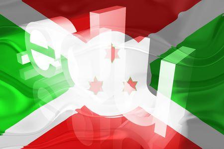 edu: Flag of Burundi, national country symbol illustration wavy edu education website