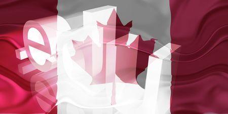 edu: Flag of Canada, national country symbol illustration wavy edu education website