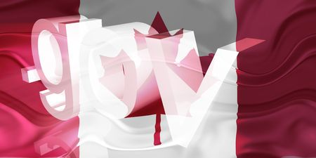 gov: Flag of Canada, national country symbol illustration wavy gov government website