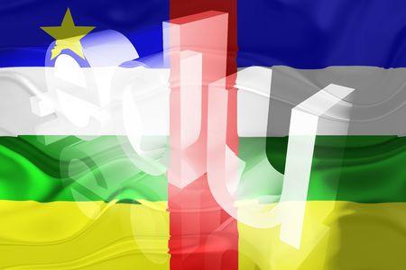 edu: Flag of Central African Republic , national country symbol illustration wavy edu education website