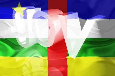 gov: Flag of Central African Republic , national country symbol illustration wavy gov government website