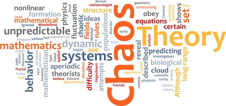 chaos theory: Word cloud concept illustration of chaos theory