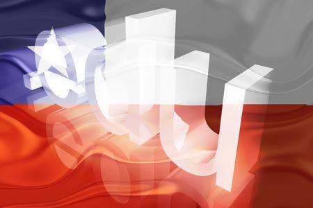 edu: Flag of Chile, national symbol illustration clipart wavy edu education website