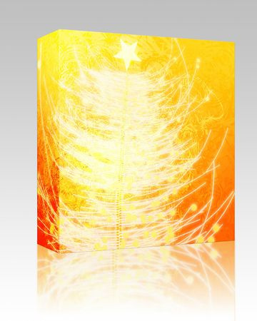 christmastree: Software package box Christmas tree festive holiday abstract wallpaper illustration Stock Photo