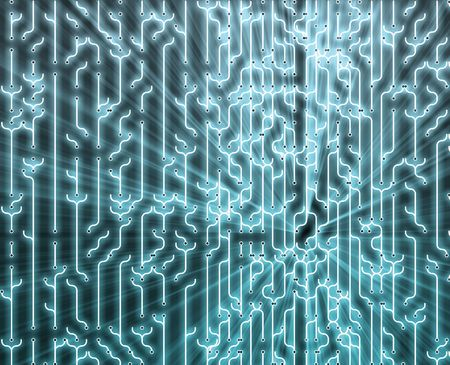 nexus: Abstract wallpaper illustration of electronic circuitry patterns