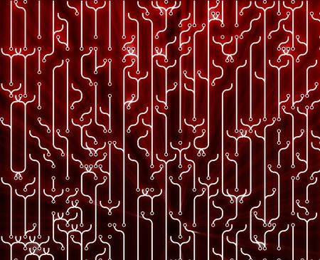 Abstract wallpaper illustration of electronic circuitry patterns illustration