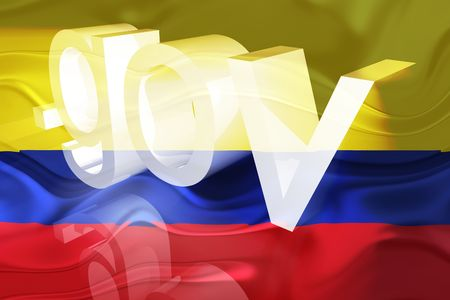 gov: Flag of Colombia, national country symbol illustration wavy gov government website
