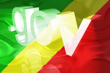 gov: Flag of Congo, national country symbol illustration wavy gov government website