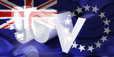 gov: Flag of Cook Islands, national country symbol illustration wavy gov government website Stock Photo
