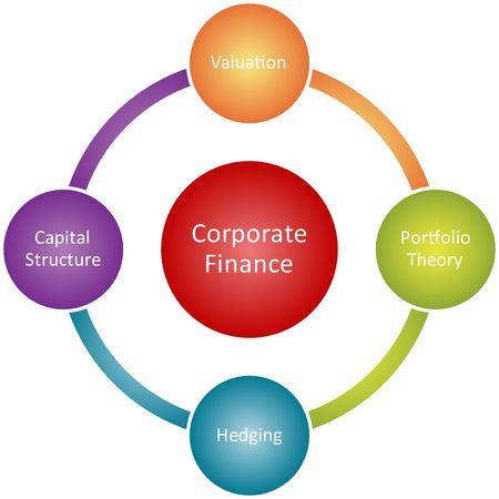 コーポレート ・ ファイナンス管理ビジネス戦略概念図図