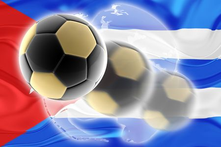 cuban flag: Flag of Cuba, national symbol illustration clipart wavy sports soccer football org organization website Stock Photo