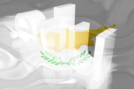 edu: Flag of Cyprus, national symbol illustration clipart wavy edu education website