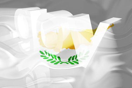 gov: Flag of Cyprus, national symbol illustration clipart wavy gov government website