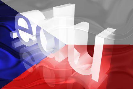 edu: Flag of Czechoslovakia, national symbol illustration clipart wavy edu education website