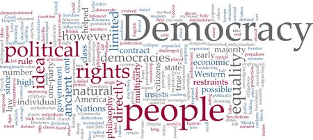 Word cloud concept illustration of democracy political illustration