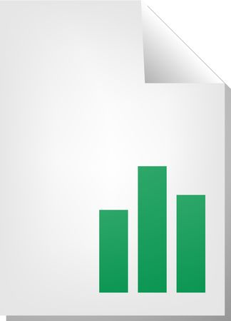 barchart: Bar chart document file type illustration clipart Stock Photo