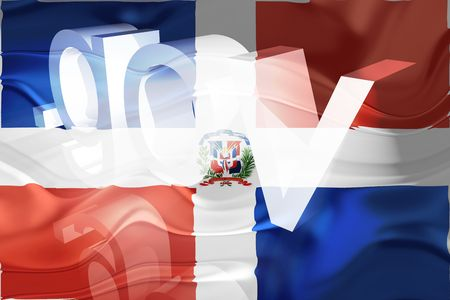 gov: Flag of Dominican Republic, national country symbol illustration wavy gov government website Stock Photo