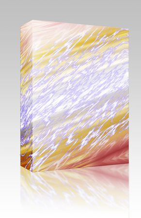 pulsing: Software package box Pulsating energy beam ray abstract design illustration