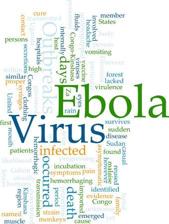 virulence: Word cloud concept illustration of ebola virus Stock Photo
