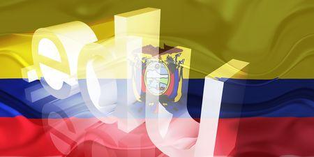 edu: Flag of Ecuador, national country symbol illustration wavy edu education website Stock Photo