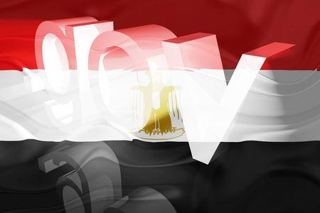 gov: Flag of Egypt, national country symbol illustration wavy gov government website Stock Photo