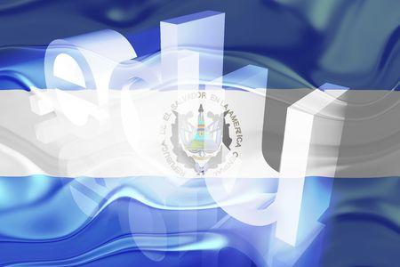edu: Flag of El Salvador, national country symbol illustration wavy edu education website