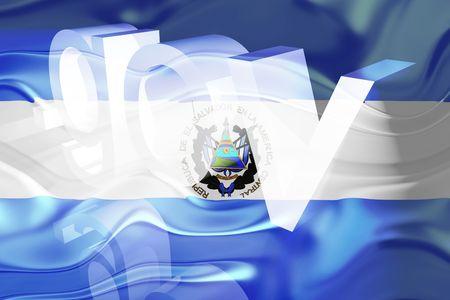 gov: Flag of El Salvador, national country symbol illustration wavy gov government website