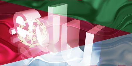 edu: Flag of Eritrea, national country symbol illustration wavy edu education website Stock Photo