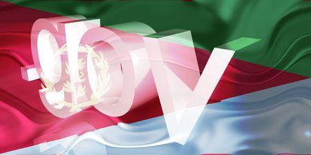 gov: Flag of Eritrea, national country symbol illustration wavy gov government website