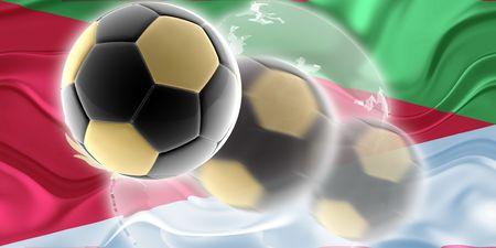 eritrea: Flag of Eritrea, national country symbol illustration wavy sports soccer football org organization website