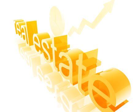 uptrend: Property real estate economy trend concept illustration improving upwards