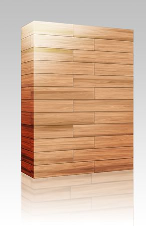 Software package box Wooden parquet natural finish seamless tiling texture background photo